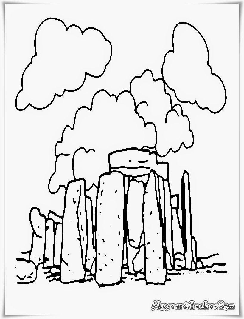 Mewarnai Gambar Pemandangan Alam : mewarnai, gambar, pemandangan, Mewarnai, Gambar, Pemandangan, Coloring, Pages,, Bronze, Stonehenge