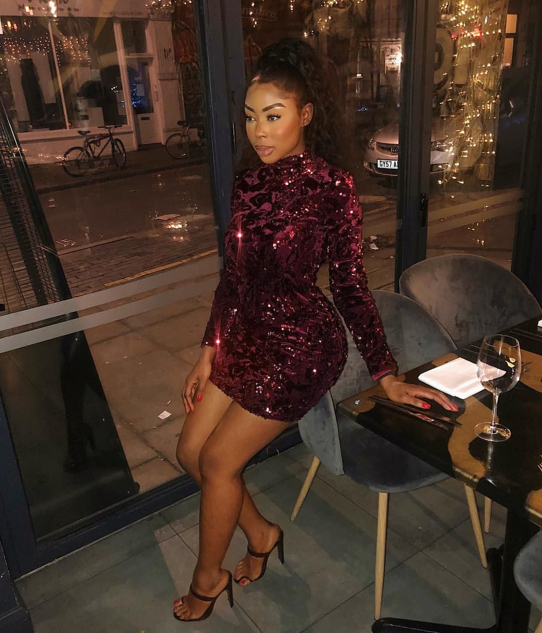 Feeling Very Christmasyy Wearing My Clubllondon Dress I Ve Got A Discount Code Also Night Outfits Night Out Outfit Trendy Dresses [ 1261 x 1080 Pixel ]