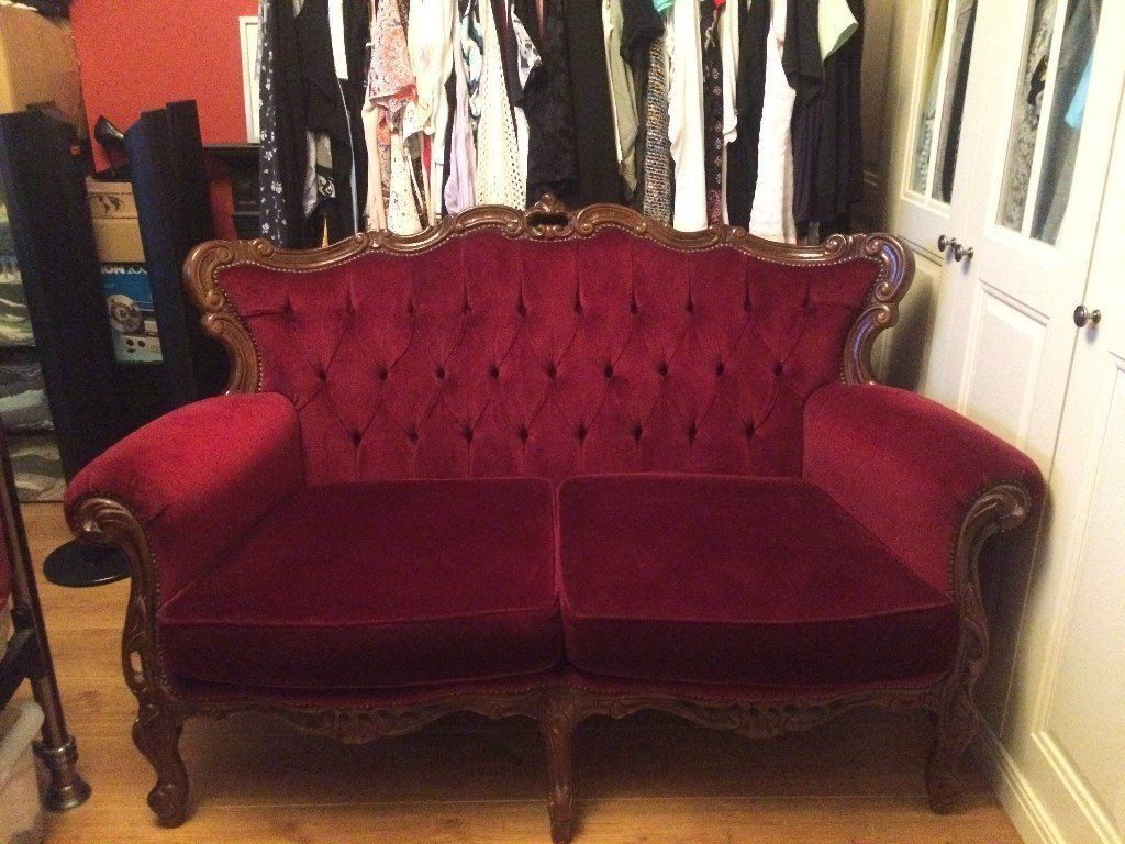 Burgundy Red Velvet Draylon 3 Piece Suite Burgundy Living Room Used Sofas For Sale Living Room Designs