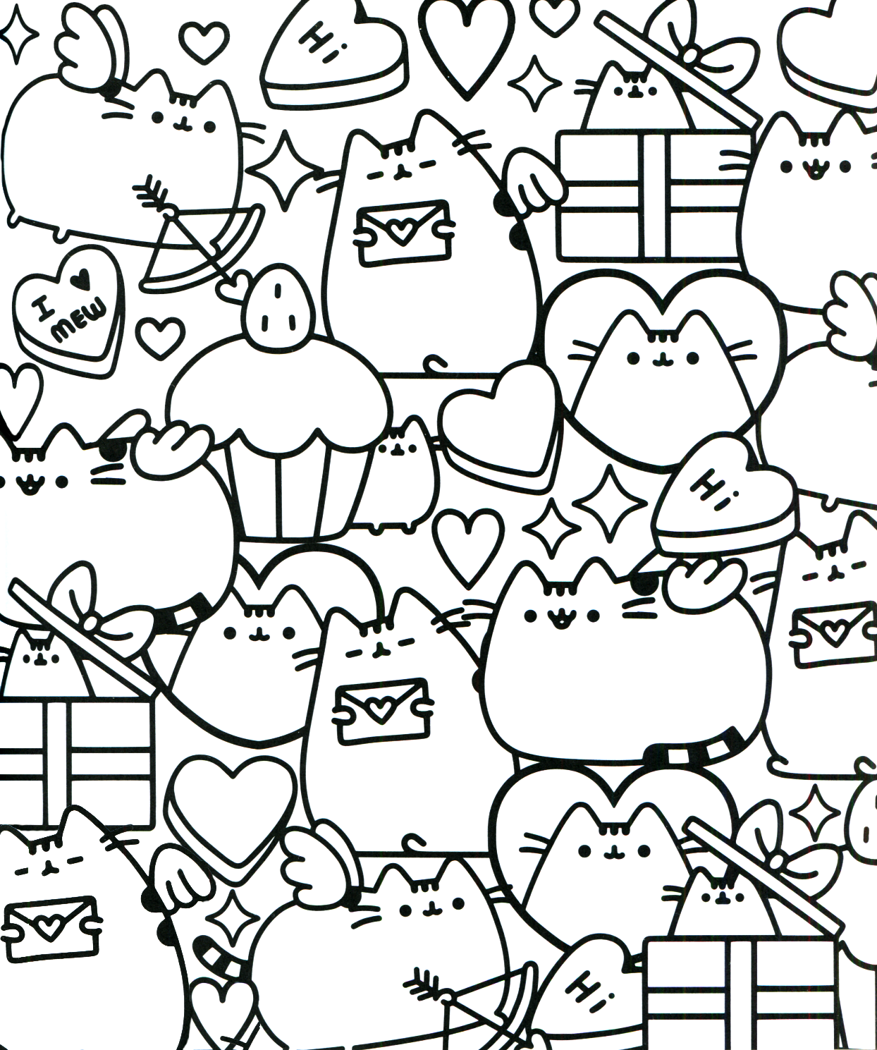 Pusheen Coloring Book Pusheen Pusheen The Cat Pusheen Coloring Pages Valentine Coloring Pages Unicorn Coloring Pages