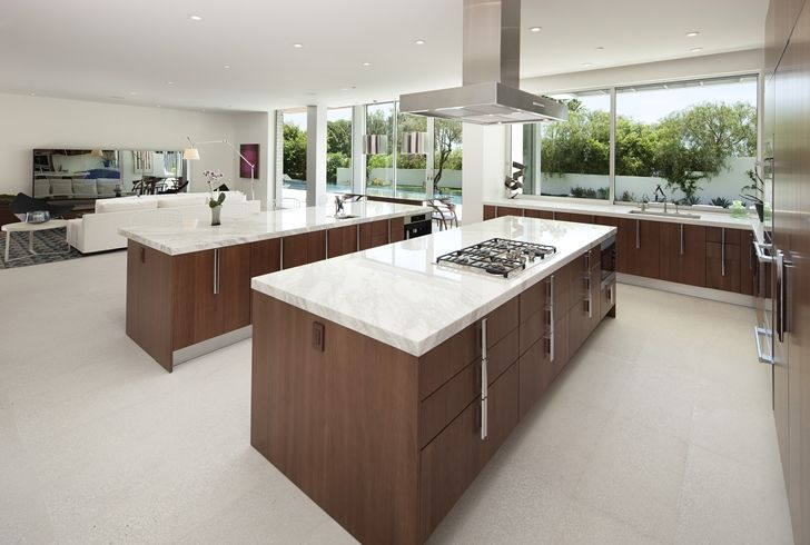 When Modern Mansions Go Big And Expensive Marble Countertops
