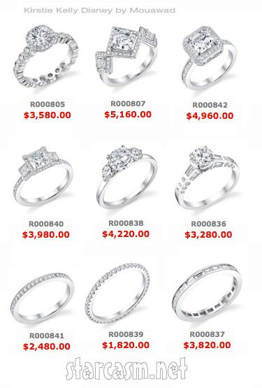kirstie kelly disney wedding ring collection - Disney Engagement Rings And Wedding Bands
