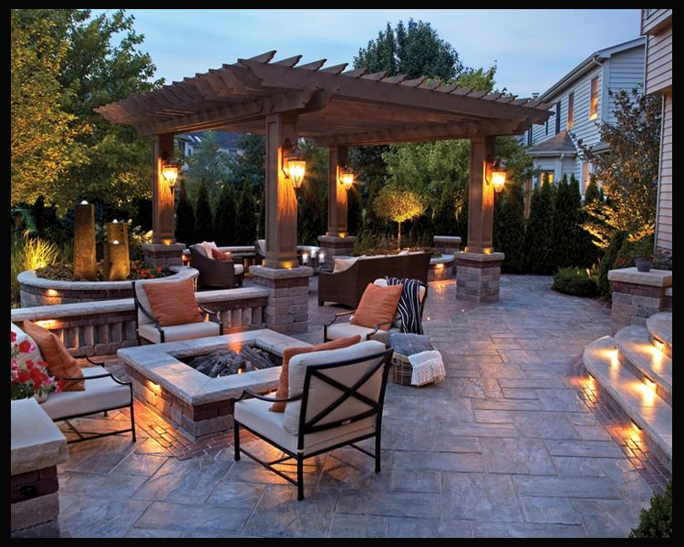 Ideal Patio Design Needs A Spot For Hottub In 2019