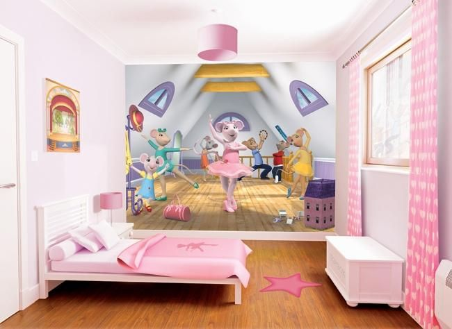 Best Angelina Ballerina Kids Mural Available At Wolfstock Uk 640 x 480
