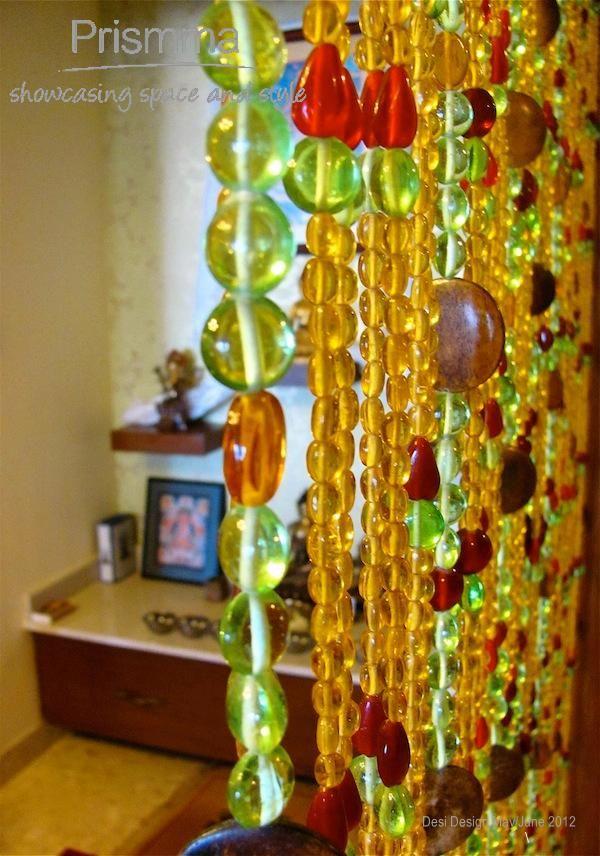 bead curtains pooja room design home mandir lamps doors