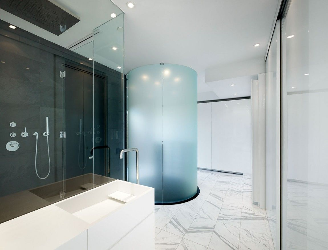 Nature Inspired Penthouse By Johnson Chou 13. Loft BathroomGlass ...