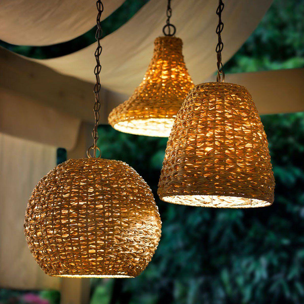 Palisades 16 5 1 Light Pendant Chestnut Wicker Lamparas Colgantes Iluminacion Exterior Decoracion De Unas