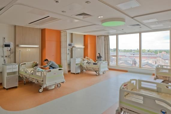 a multi bed room in the patient wards at alder hey photo