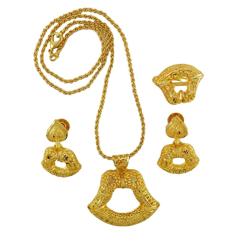 Banithani indian ethnic traditional k gold plated necklace set