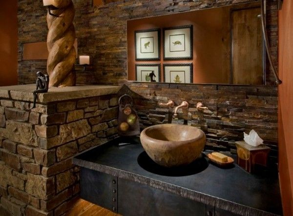 Cómo usar materiales naturales en el cuarto de baño Materiales - bao de piedra