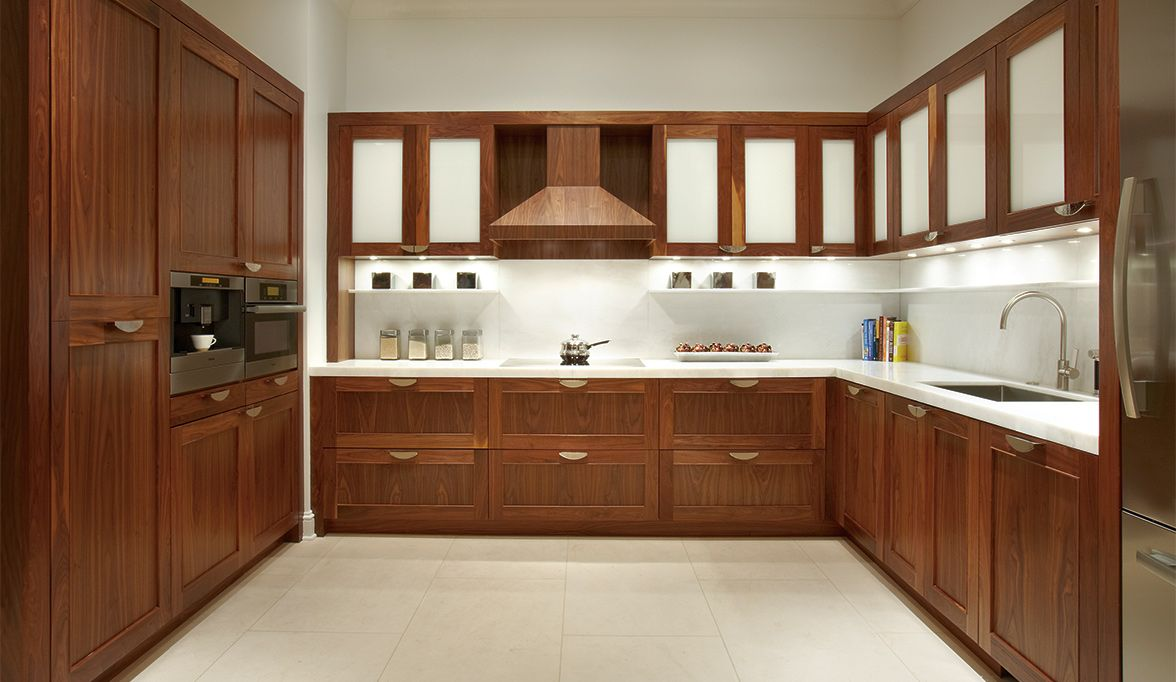 Check Out This Recent Custom Kitchen Cabinets In Natural Walnut Custom Cabinetr Contemporary Kitchen Cabinets Kitchen Cabinet Design Beautiful Kitchen Cabinets