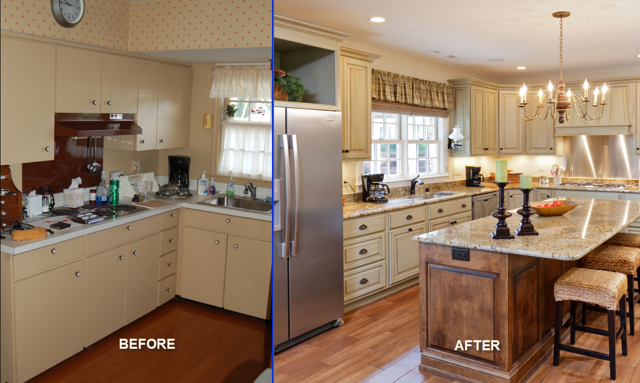 awesome Before And After Pictures Of Remodeled Kitchens #7: 17 Best images about Before and Afters on Pinterest | High low, Home  renovations and Brother