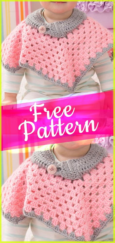 10 free crochet poncho for baby #babyponcho