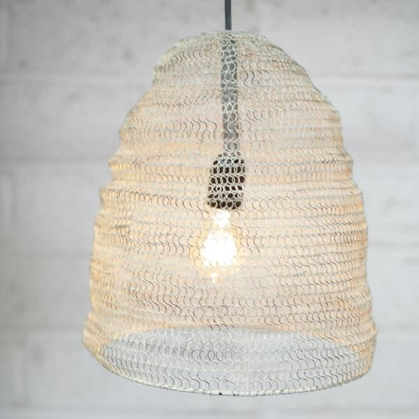 Metal Wire Mesh Pendant Light Lamp Shade - Oval - Industrial / Loft ...