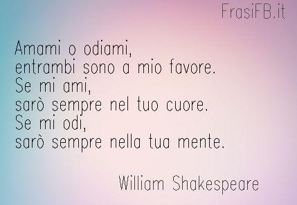 frasi d'amore shakespeare