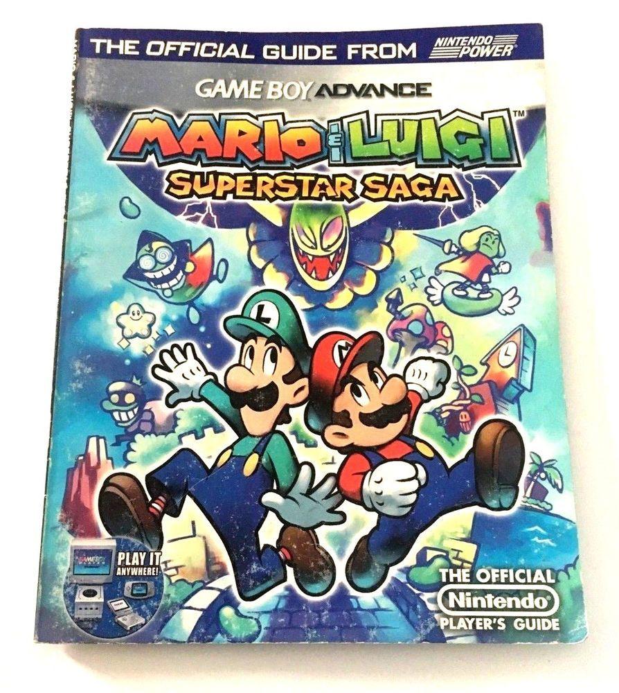 Mario Luigi Superstar Saga Official Nintendo Guide Book Gba