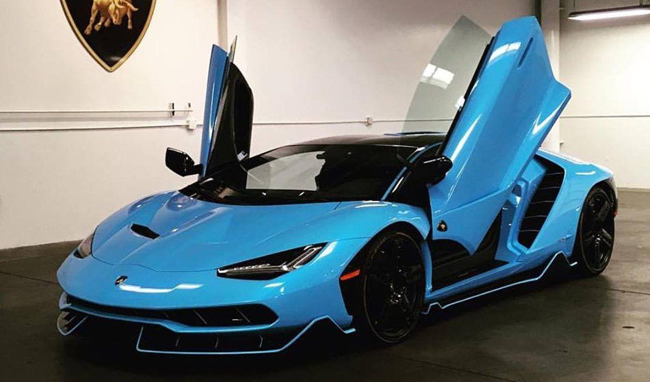 Baby Blue Lamborghini Centenario Delivered Blue Lamborghini Lamborghini Centenario Lamborghini Cars