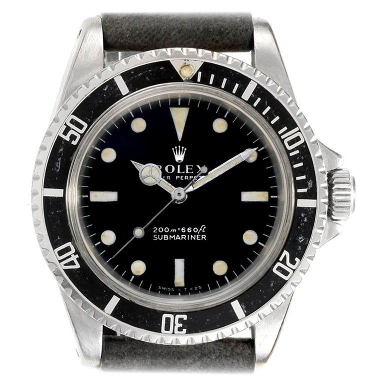 Rolex Submariner Vintage Stainless Steel Automatic Men's Watch 5513 #stainlesssteelrolex