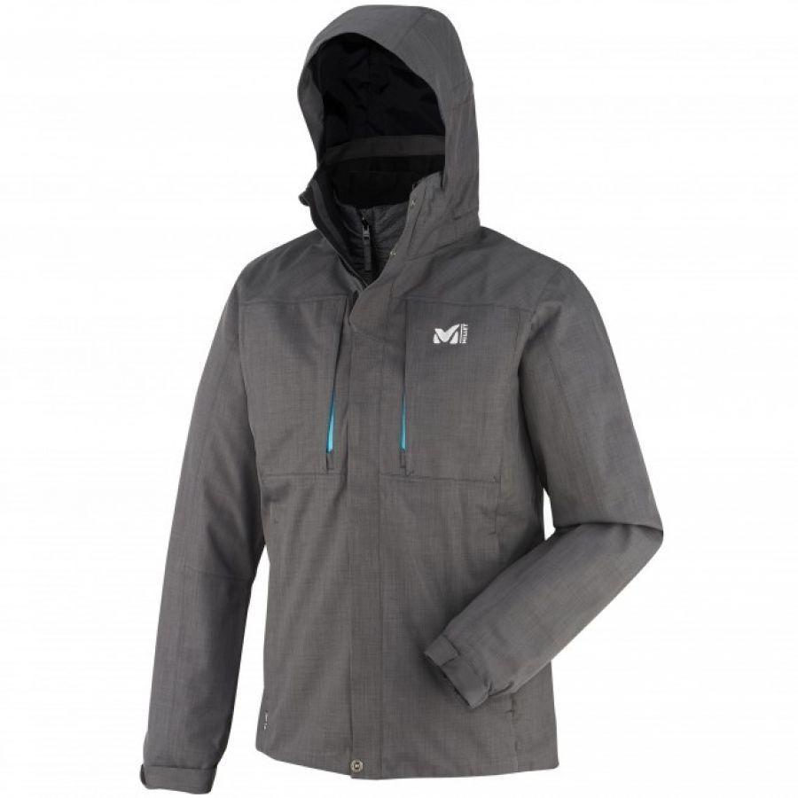 Millet Mens Black Mountain 3 In 1 Jacket Heather Grey Electric Blue Mountain Jacket 3 In 1 Jacket Jackets [ 900 x 900 Pixel ]