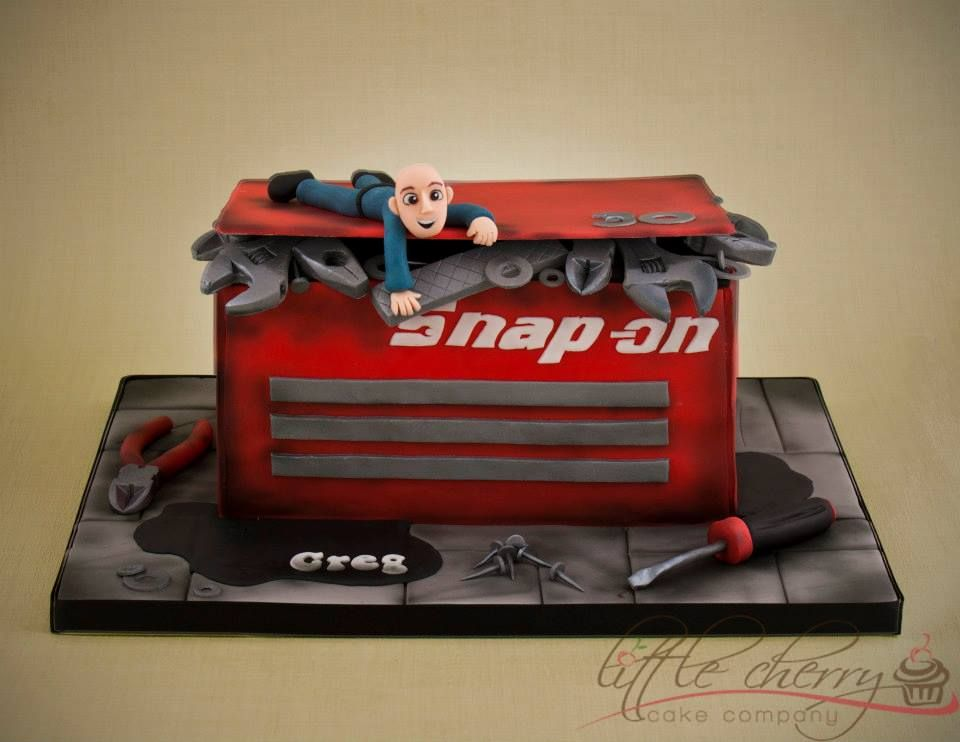 Snap On Toolbox Cake Little Cherry Cake Company With Images