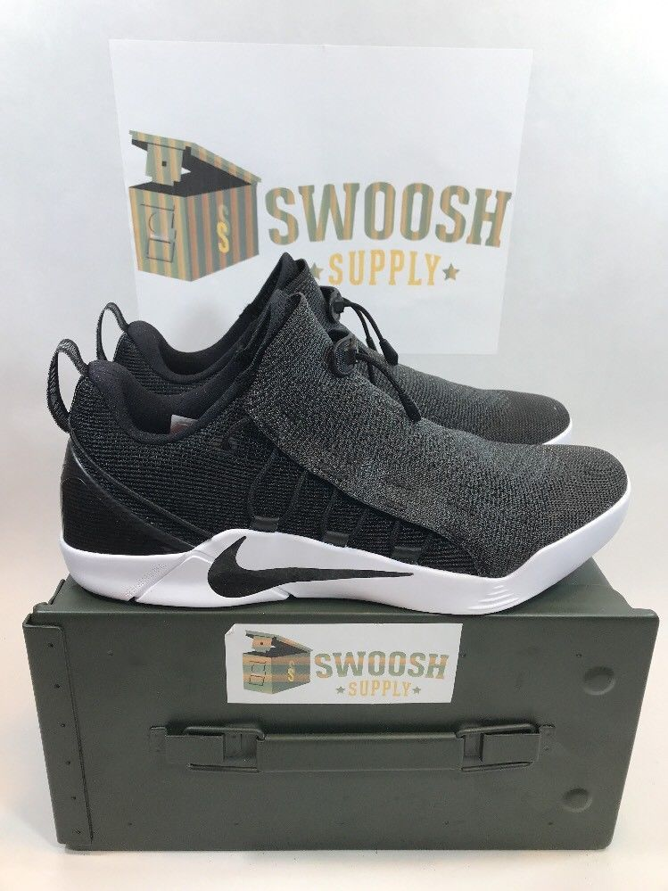 164b15e8af99 Nike Kobe A.D. NXT Black Metallic Silver-White Basketball 882049-007 Men s  9.5