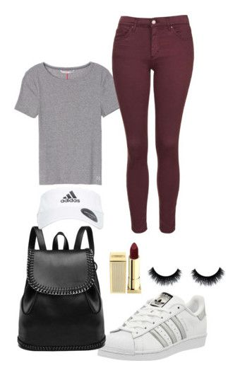 """""""Fall"""" by rkoneill ❤ liked on Polyvore featuring Topshop, adidas and Lipstick Queen"""