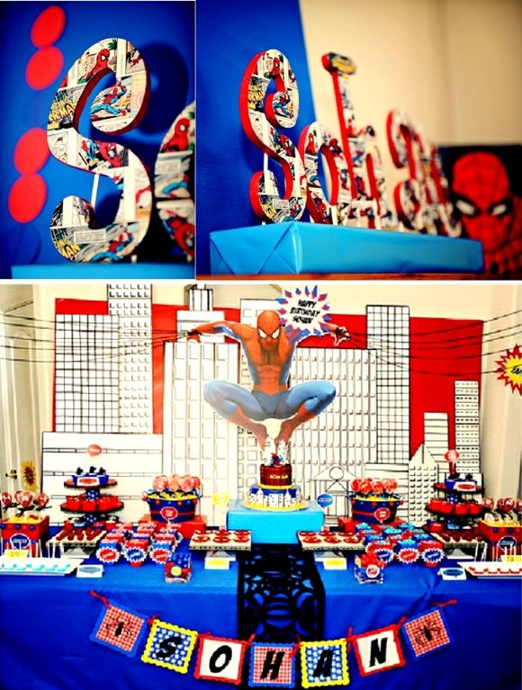 SpiderMan Inspired Party Book letters Superhero party and
