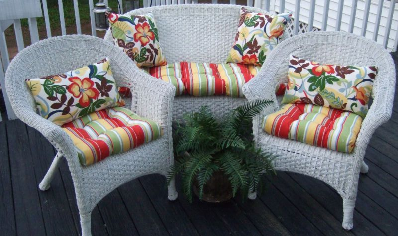 Details About Outdoor All Weather 3pc Wicker Settee Chair