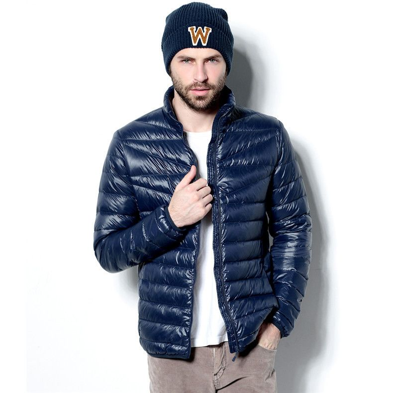 Men's Winter Hoodies Quilted Jacket Warm Fashion Male Puffer ...