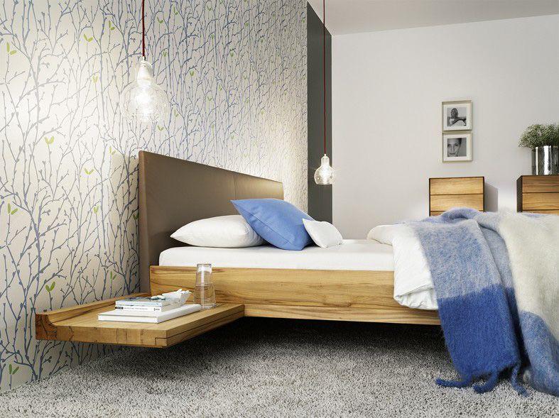 Bettanlage Doppelbett Schwebetoptik Bettseiten in Holz oder - modernes designer doppelbett holz