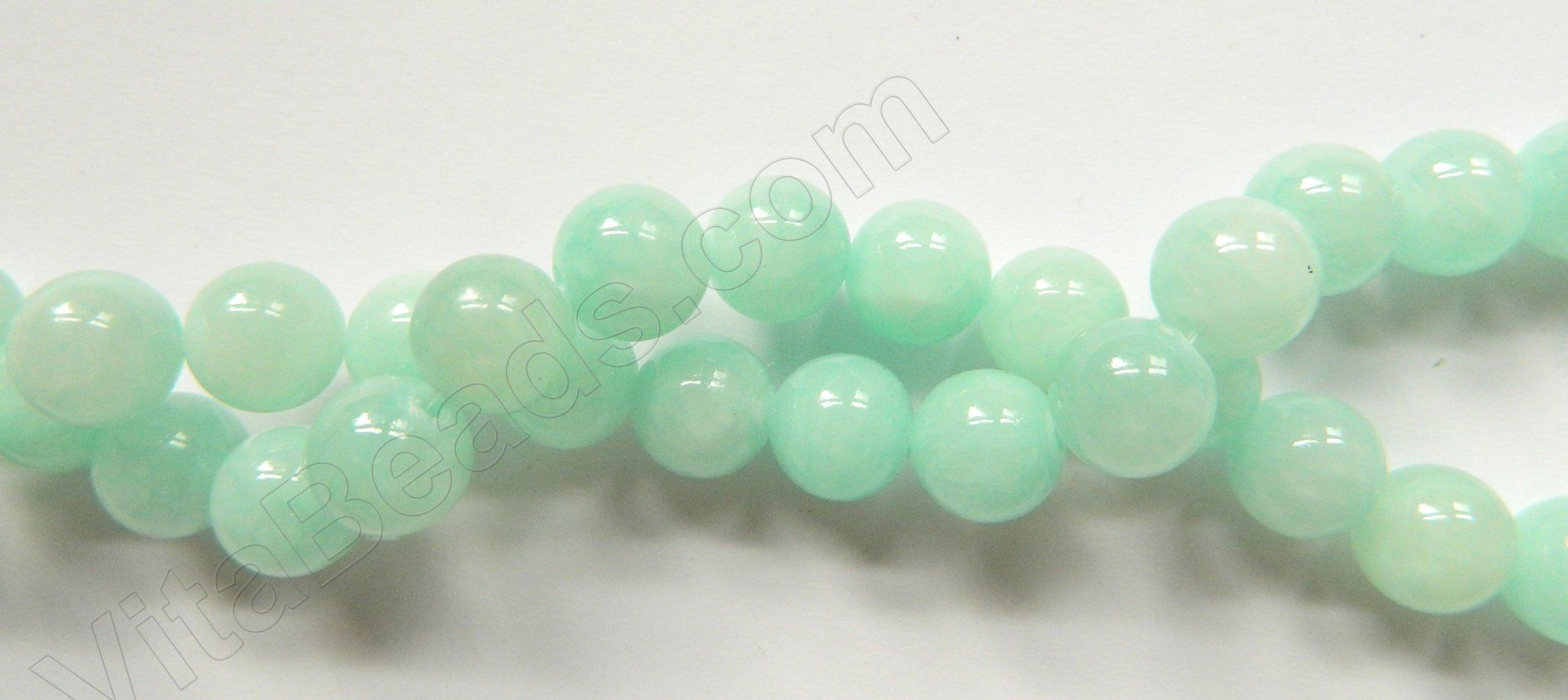 Green Amazonite Mashan Jade - Smooth Round 16""