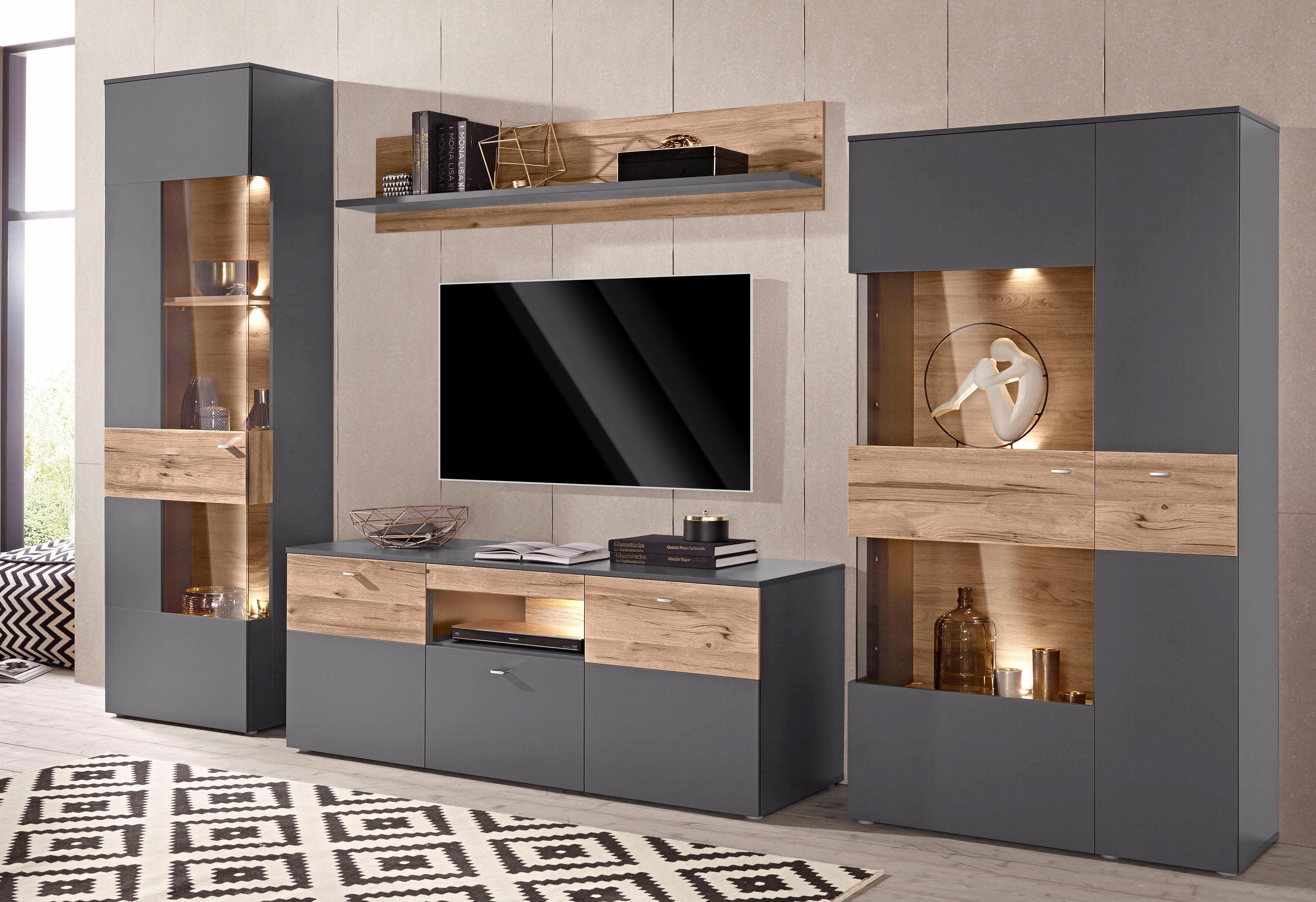 FORTE Wohnwand kaufen  BAUR  Tv room design, Living room design