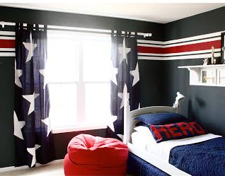 AJ's Captain America room ?