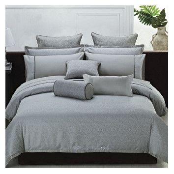 Best Highland Feather Modern Leaves Jacquard Bedding Collection 400 x 300