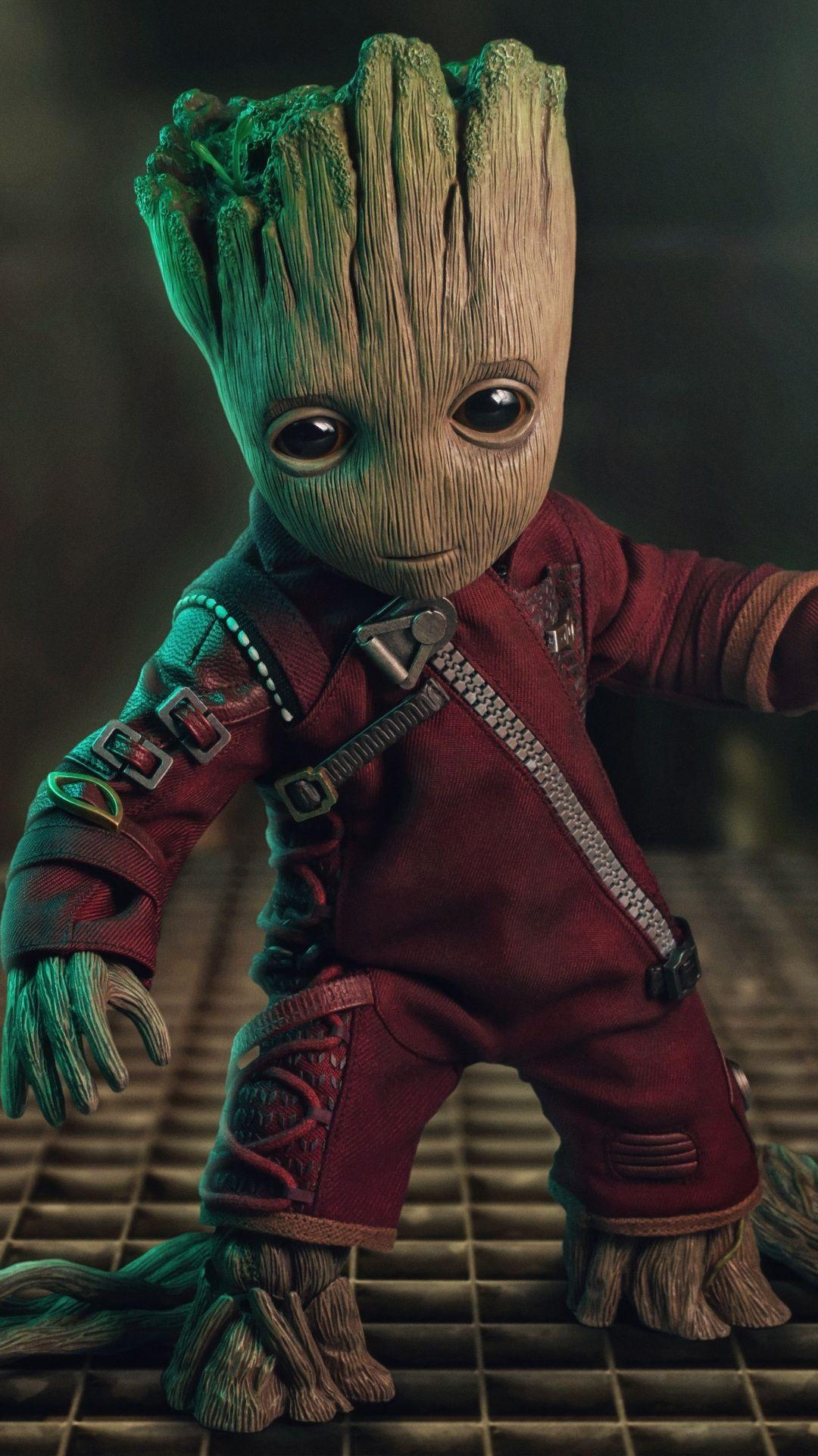 Baby Groot Guardians Of The Galaxy Superhero Fan Art 1080x1920