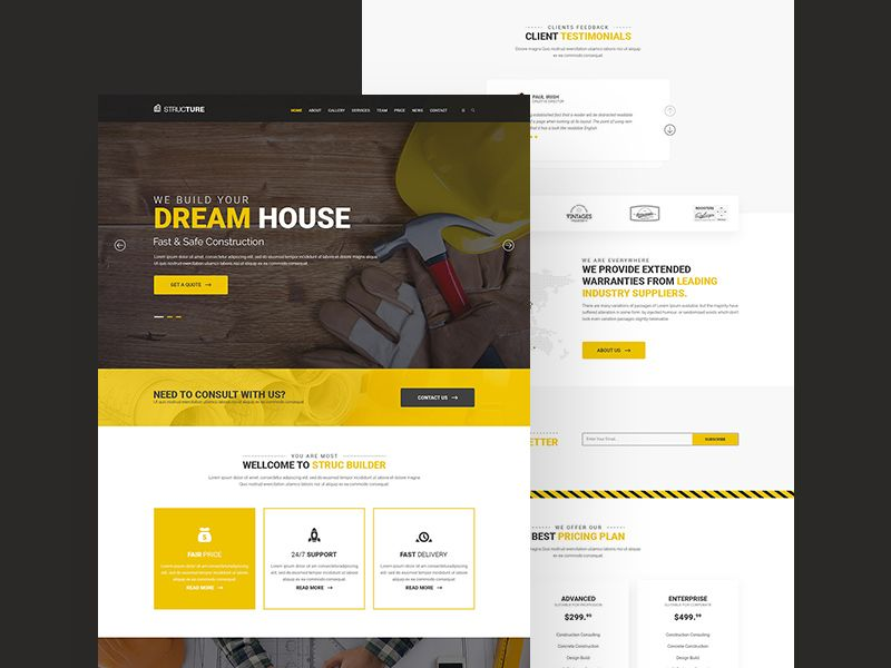 Construction Website Template - Free Resource | PSD Templates ...