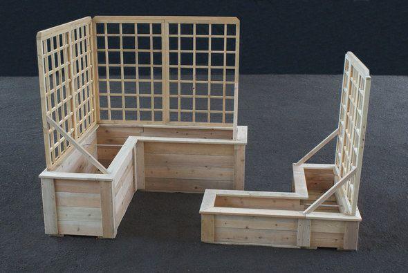 L-Shaped Planter Boxes