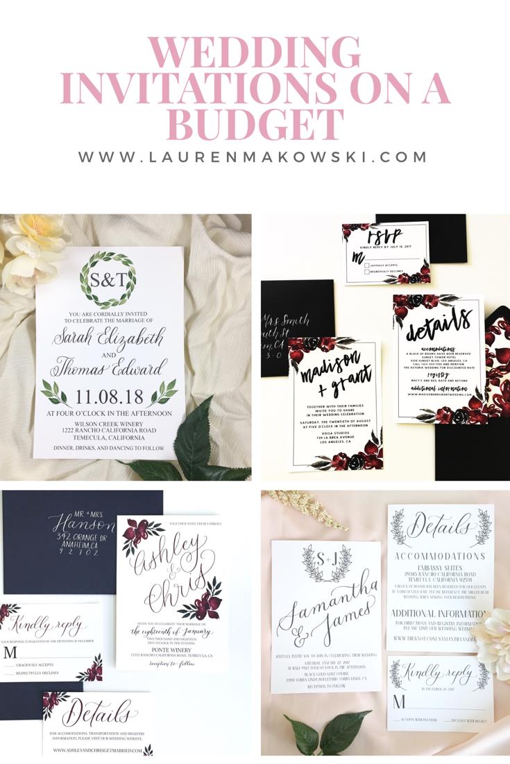 Invitations in a budget, wedding invitations, simple wedding ...