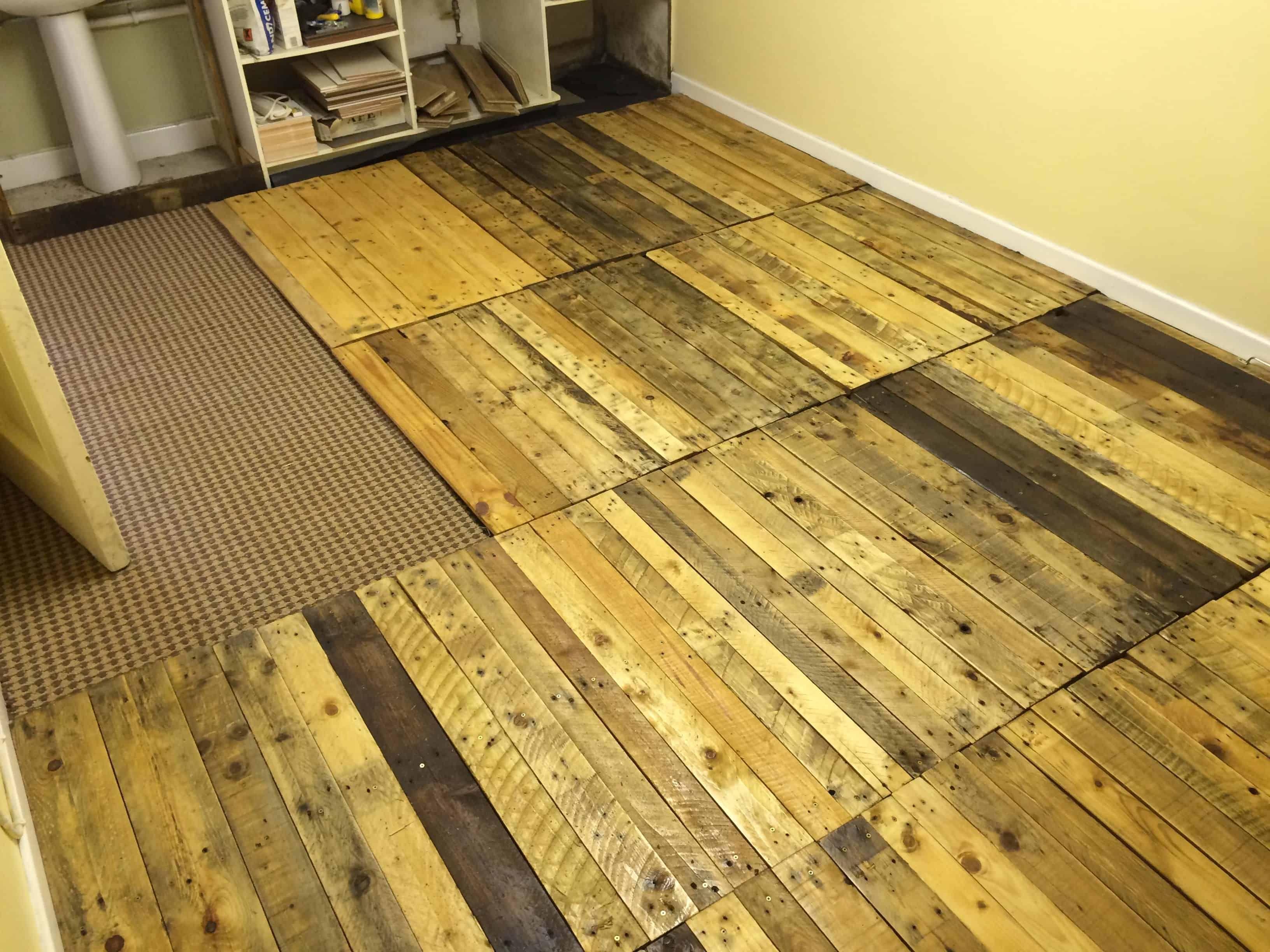 Removable Pallet Kitchen Floor • 9 Pallets   Pallet floors ...