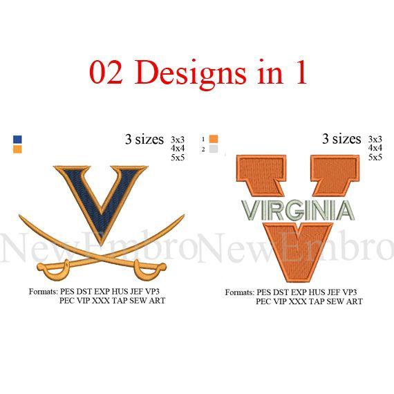 Virginia Cavaliers logo 02 designs in 1, University of virginia ...