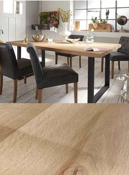 TAvolo da pranzo apollo, legno massello gambe in ferro, design ...