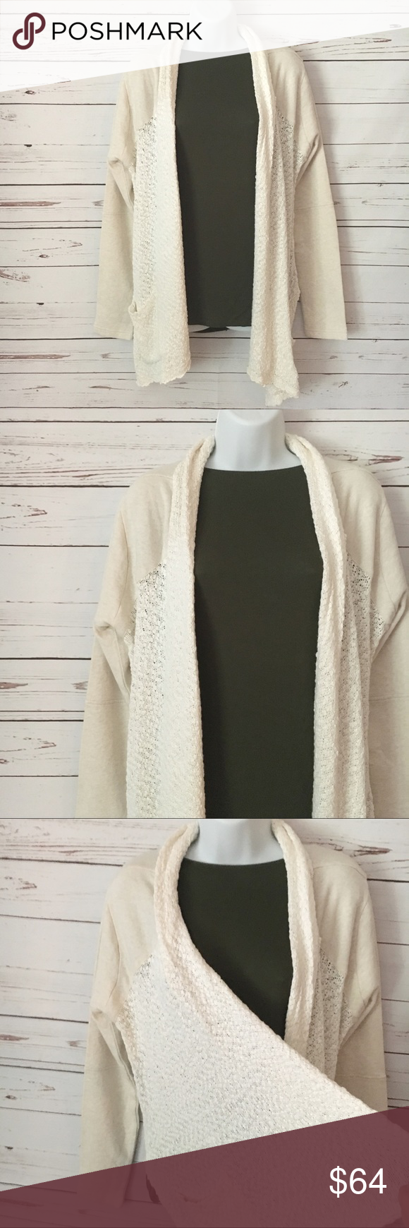 Lucky Brand Off White Flowy Cardigan | Lucky brand, Wardrobes and ...