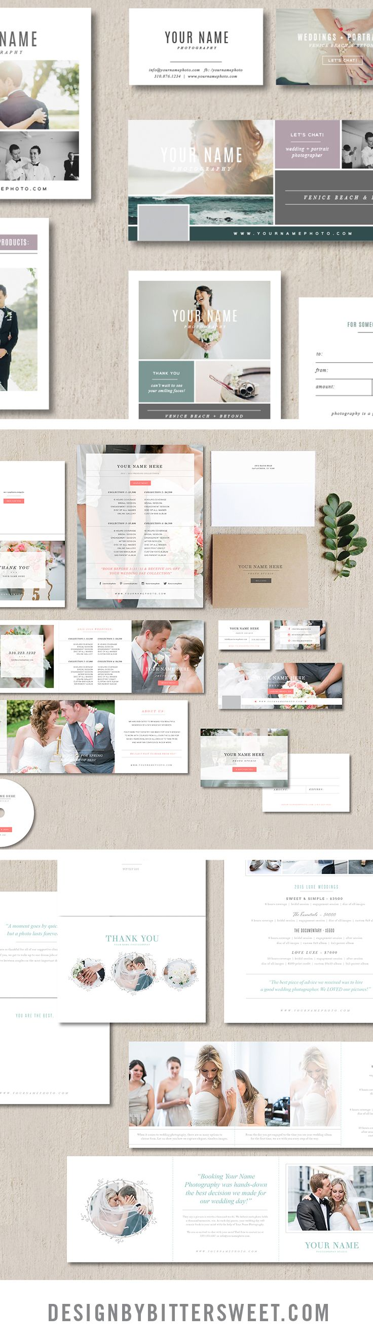 Wedding photographer welcome packet. Photography templates ...