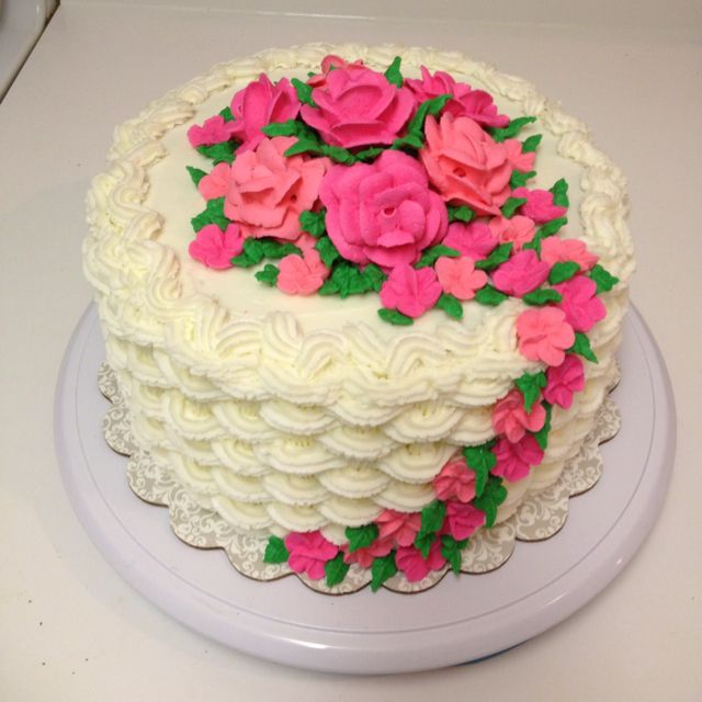 Basket Weaving A Cake : Flower basket cake cakes