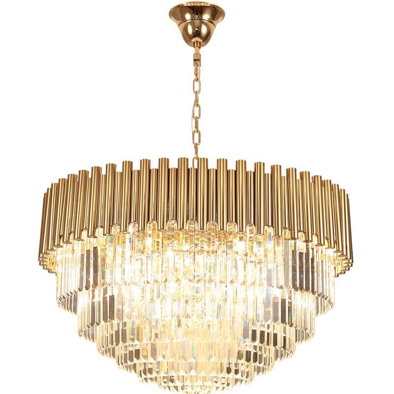 New Crystal Chandelier Gold Luxury Living Room K9 Crystal Lamp Round Led Light Crystal Chandelier Crystal Chandelier Living Room Crystal Lamp
