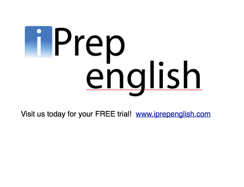 We offer 1 on 1 online English courses with native English