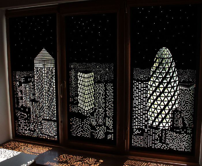 blackout curtains that will make you feel like youu0027re living in a penthouse above a large city