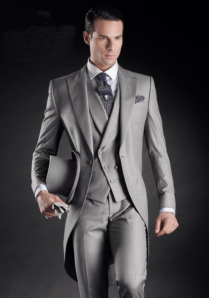 Silver Charcoal Morning Suit