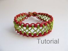 macrame bracelet pattern instructions tutorial pdf red green lacy how to micro makrane knotted. Black Bedroom Furniture Sets. Home Design Ideas