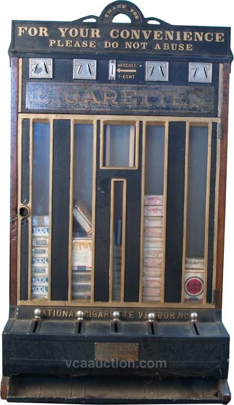 4 Column National Cigarette Vending Machine W Match Co